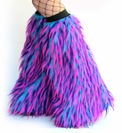 Rave Fluffies Leg Warmers Monster Blue, Hot Pink, Purple