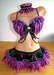 Rave Outfit - Bra, Skirt, Collar - Pink Purple Black