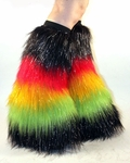 Rave Rasta Fluffies Sparkle Black, Red, Yellow, Green