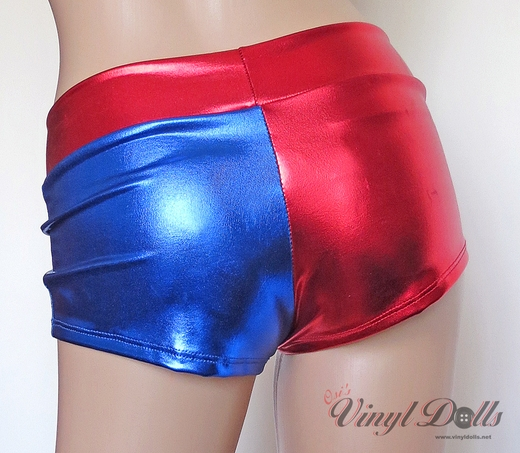 Red Blue Harley Quinn Shorts