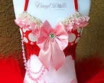 Red Pink Minnie Mouse inspired Bra