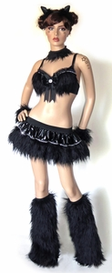 Sexy Black Kitty Rave Outfit