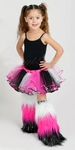 Glitter Sparkle 3 strips Kids Fluffies Leg Warmers - Choose your colors!