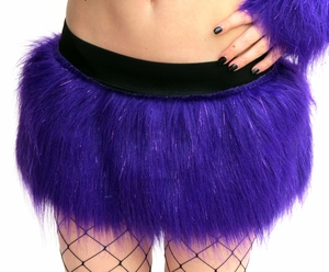 Sparkle Purple Furry Skirt