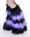 Striped Black Light Purple Lilac Fluffies