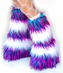 Striped Fluffies Monster Blue, Pink, Purple / White