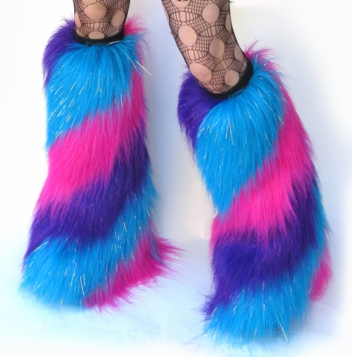 Swirl Rave Fluffies Sparkle Hot Pink, Purple, Blue
