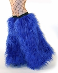 Electric Royal Blue Fluffies Leg Warmers
