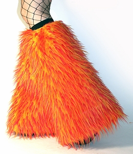 Fire Monster Fur Fuzzy Boot Covers