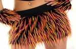 Hot Pink, Yellow, Black Monster Fur Skirt