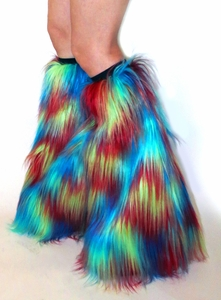 UV Neon Yellow, Blue, Red Multi-Color Fluffies