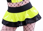UV Neon Yellow Vinyl Skirt