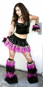 Vinyl and Monster Fur Rave Clothes Outfit
