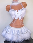 White Furry Rave Outfit