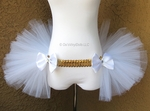 White Gold Bustle TuTu