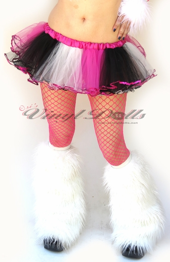 White, Pink, Black Rave TuTu