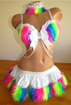 White UV Neon Rainbow Outfit