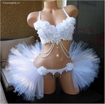 White Wonderland Rave Outfit