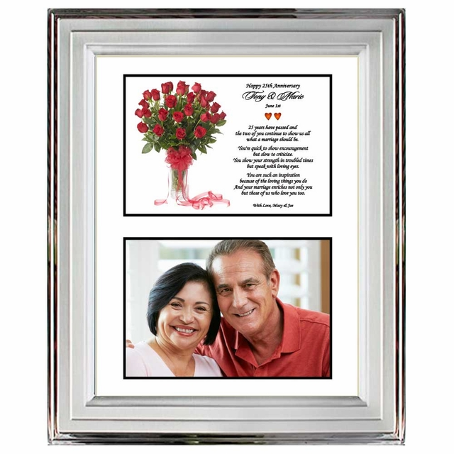 25th Wedding Anniversary - Silver Metallic Frame for the Silver ...