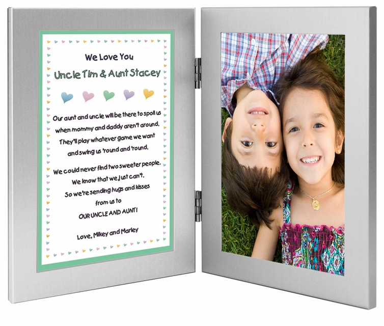 Personalized Gift For Aunt And Uncle In Double Frame
