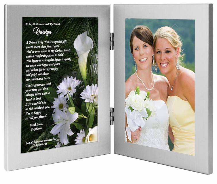 Bridesmaid Gift Poem And Frame