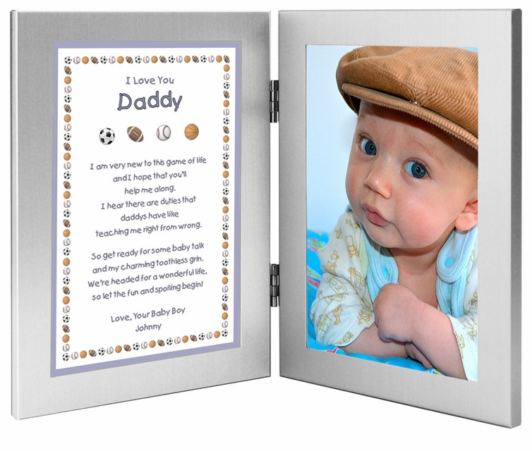 New Dad Frame With Personalized Poem From Son