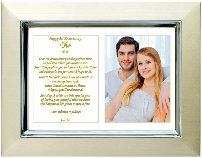 First Anniversary Gift - Poem and Frame