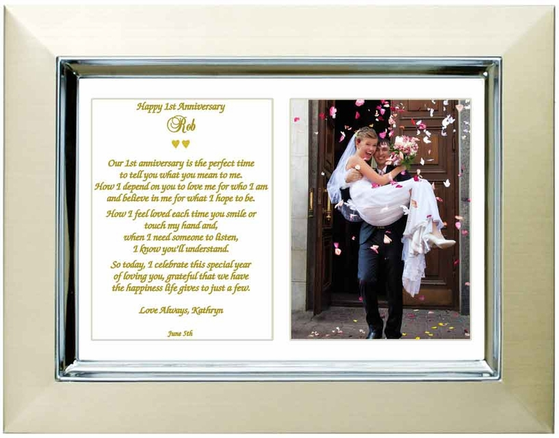 First anniversary gift poem and frame