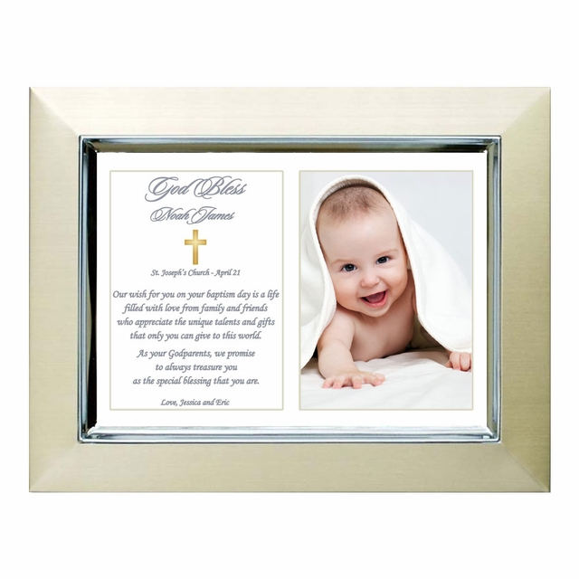 Thank You For Being My Godfather And Godmother 5x7 Silver Photo Frames Gift Idea