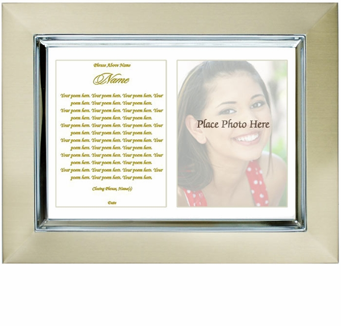 Personalized Picture Frame - Poetry & Photo