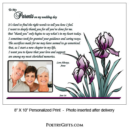 Thank You Gift For Parents Personalized From You