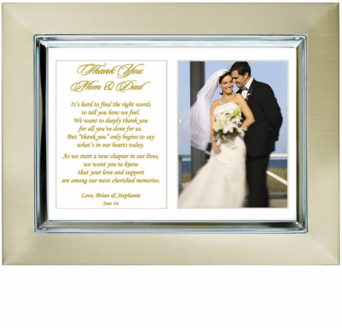 Gifts For Parents Wedding Thank You: To My Parents Wedding Thank You Gift