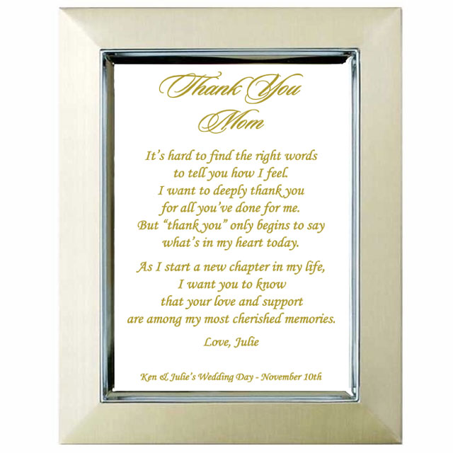 Parent Wedding Gifts Thank You: To My Parents Wedding Thank You Gift
