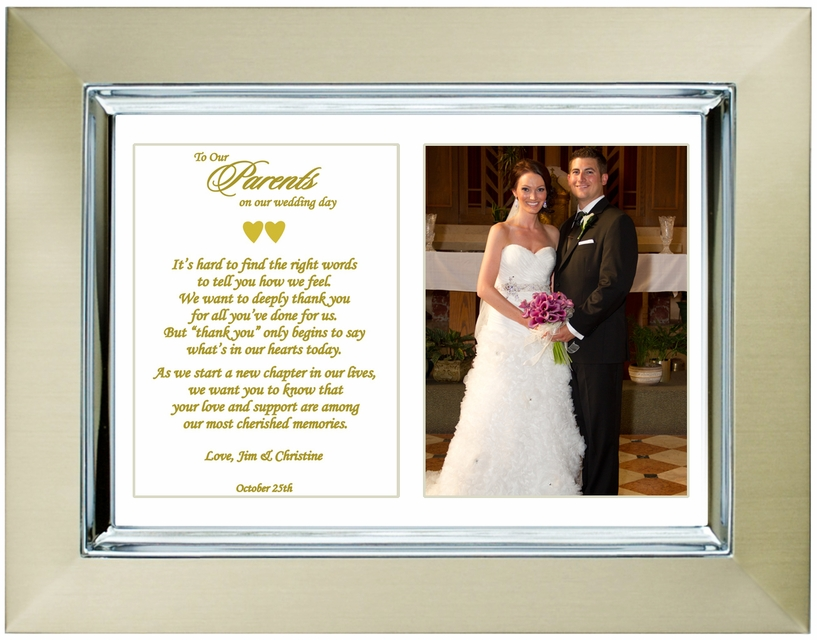 Wedding gifts for parents from son or daughter for Best gifts for parents for wedding