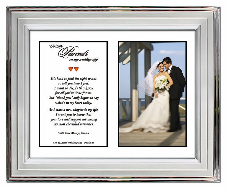 Wedding gifts for parents from son or daughter for Great wedding gifts for parents