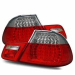 00-03 BMW E46 3-Series Coupe Euro Style LED Performance Tail Lights - Red / Clear