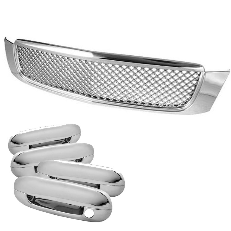 00-05 CADILLAC DEVILLE FRONT BENTLEY STYLE GRILL GRILLE+DOOR HANDLE TRIM COVER  sc 1 st  ProTuningLab.com & 00-05 CADILLAC DEVILLE FRONT BENTLEY STYLE GRILL GRILLE+DOOR HANDLE ...