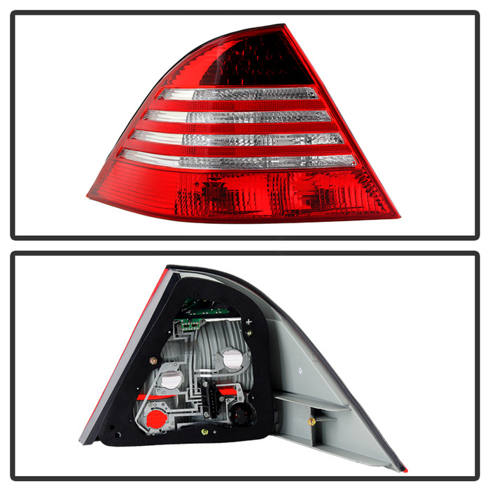 00 05 mercedes benz w220 s class red clear led tail lights for Led light for mercedes benz