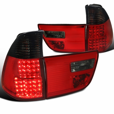 00-06 BMW X5 E53 LED Tail Lights - Red Smoked