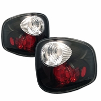 2001-2003 Ford F150 F-150 Flareside Euro Altezza Tail Lights - Black