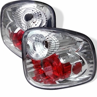 2001-2003 Ford F150 F-150 Flareside Euro Altezza Tail Lights - Chrome