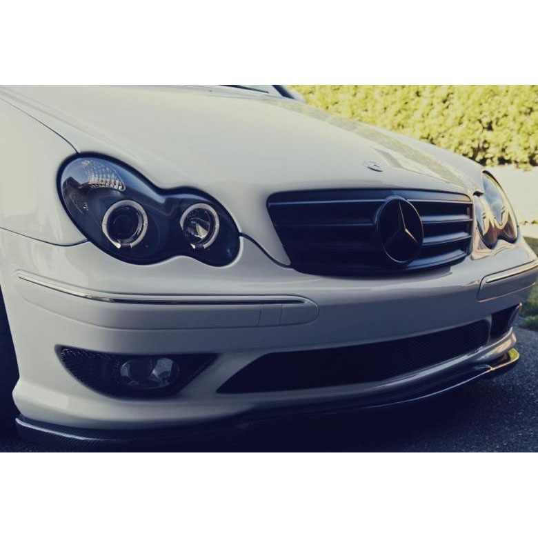 01 05 mercedes benz c class w203 angel eye halo projector headlights black 44 mercedes benz w203 c class 01 05 halo projector headlights black w203 headlight wiring diagram at couponss.co