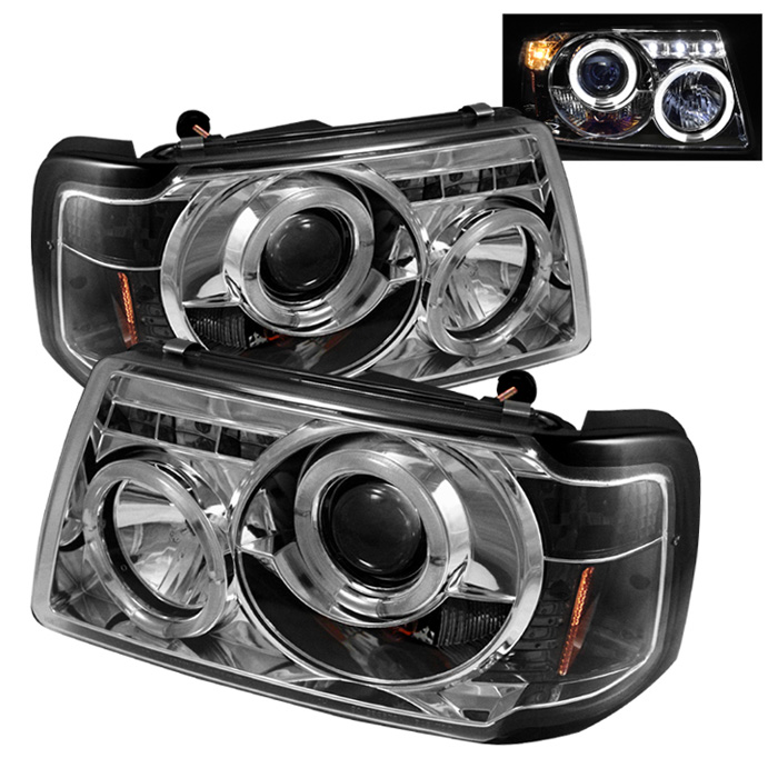 Ford Ranger Projector Headlights : Ford ranger angel eye halo led projector