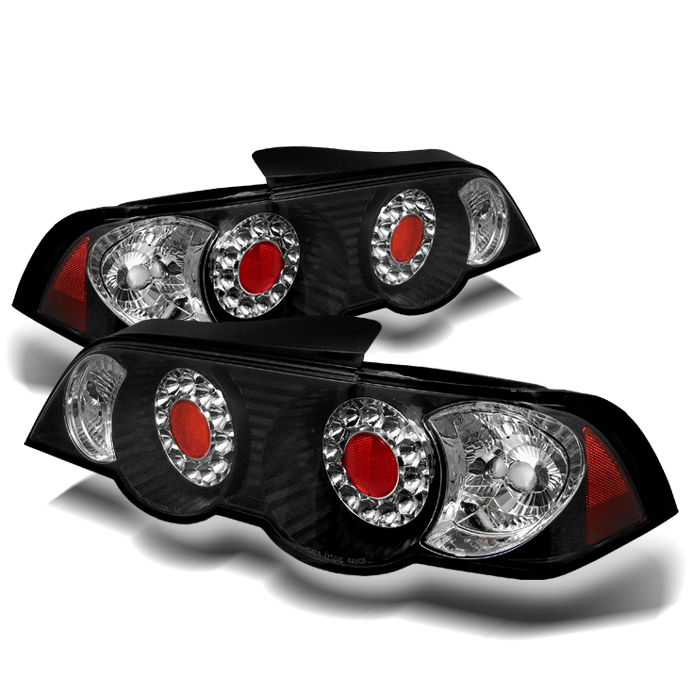 02-04 Acura RSX DC5 JDM Style LED Tail Lights- Black 111