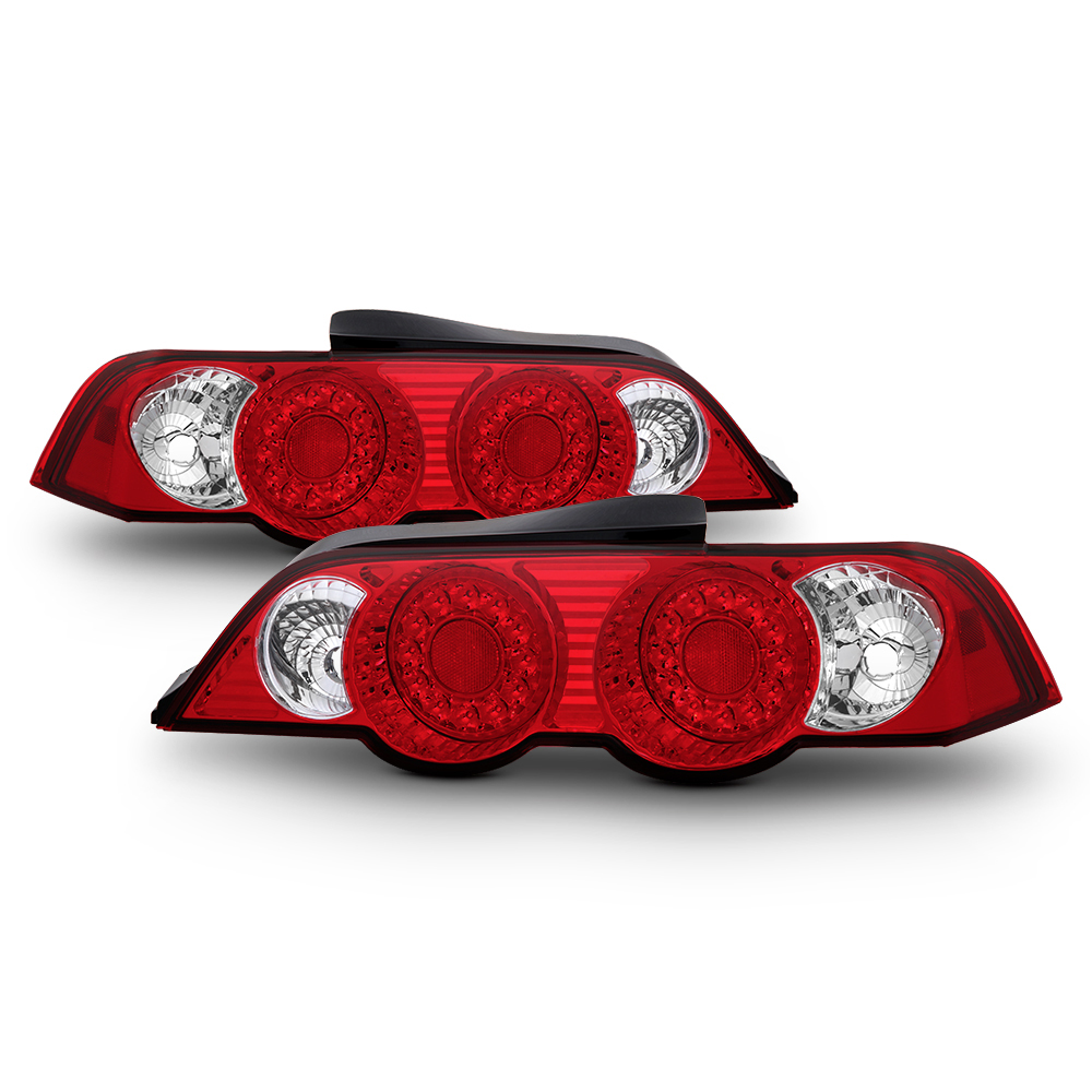 02-04 Acura RSX DC5 JDM Style LED Tail Lights- Red / Clear