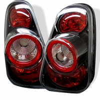 02-04 Mini Cooper Euro Style Altezza Tail Lights - Black ALT-YD-MC02-BK By Spyder