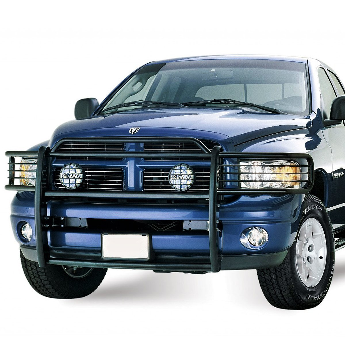 02 05 dodge ram 1500 2500 3500 front bumper protector brush grille guard black. Black Bedroom Furniture Sets. Home Design Ideas