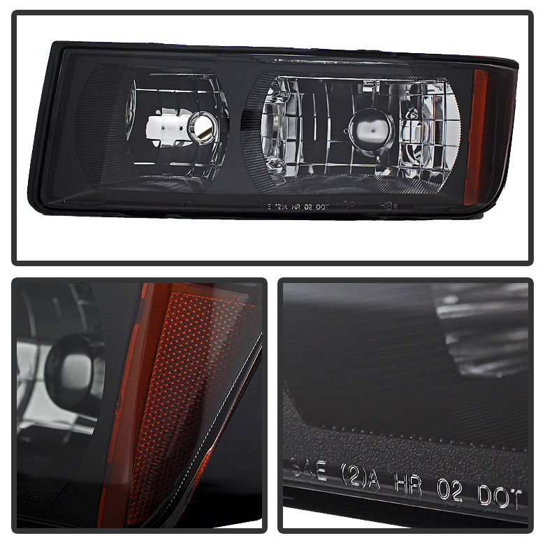 02 06 chevy avalanche with body cladding crystal headlights black. Black Bedroom Furniture Sets. Home Design Ideas