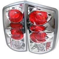 Spyder 02-06 Dodge Ram 1500 2500 3500 Altezza Tail Lights - Chrome