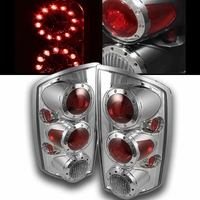 02-06 Dodge Ram 1500 2500 Euro Style LED Tail Lights - Chrome ALT-ON-DRAM02-LED-C By Spyder